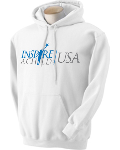 Inspire A Child USA White Hoodie